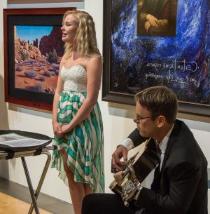 Entertainment by Emma Smith accompanied by guitarist and artist James Van Fossan