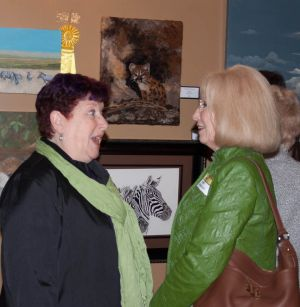 Corinne McAuley (WVAC member) and me sharing a light-hearted conversation during the show opening