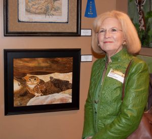 Me and one of my paintings during the show's opening reception